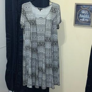 Aztec Pattern Midi Women's Short Sleeve Dress